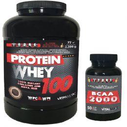 Vitalmax PROTEIN WHEY 100 2300g NEW + BCAA 2000