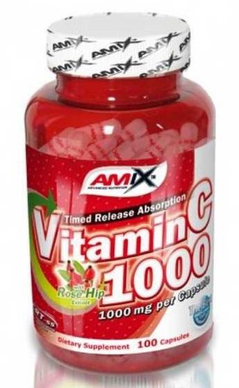 Výsledek obrázku pro Amix Vitamin C 1000 mg 100 kapslí