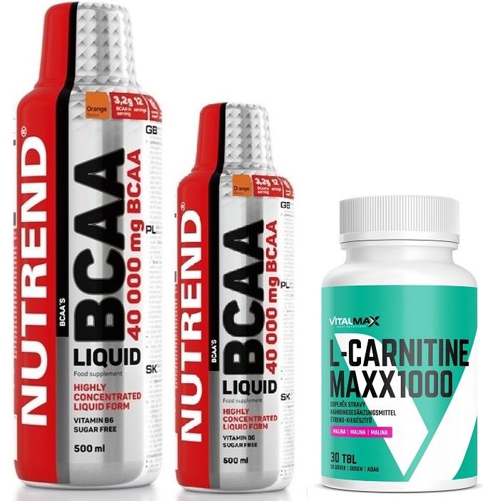 Nutrend BCAA LIQUID 1000ml + 500ml + L-Carnitine MAXX 1000  c6fcb3e7773bb