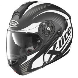 Moto helma X-Lite X-1004 Nordhelle N-Com Flat Black-White 1f13a21ff3